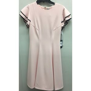 NWT Tommy Hilfiger ruffle sleeved Pink dress